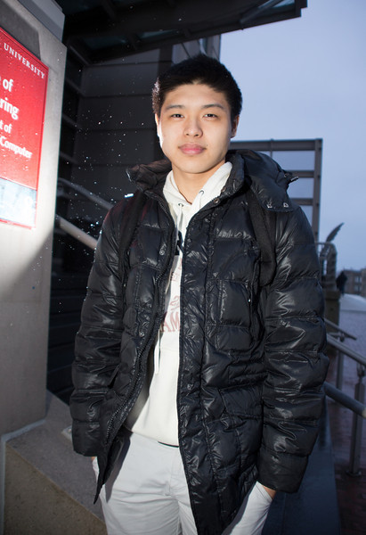 Frank Lin is a BU sophomore from Bangkok, Thailand. Photo by Sarah Ganzhorn.