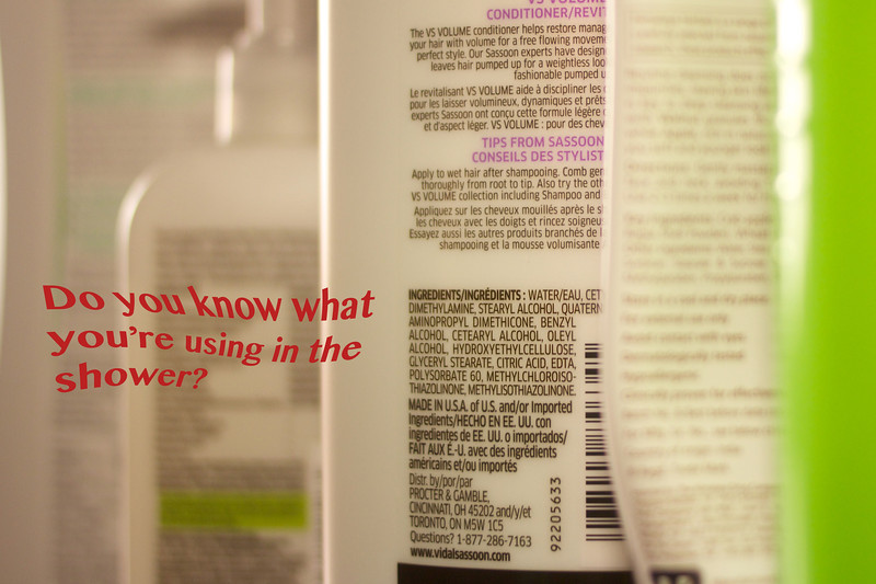 April 17, 2013 - Do you know what you're using in the shower? <br /> Photo taken by XiaoZhi Lim