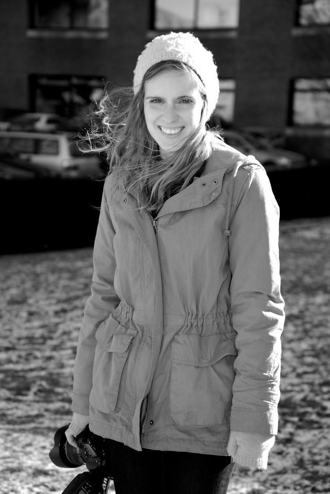 Jan. 23, 2013-- Alexa Gonzalez Wagner standing in Front of Boston University. Shot with a fill flash. By: Jasmin Bleu Pellegrino