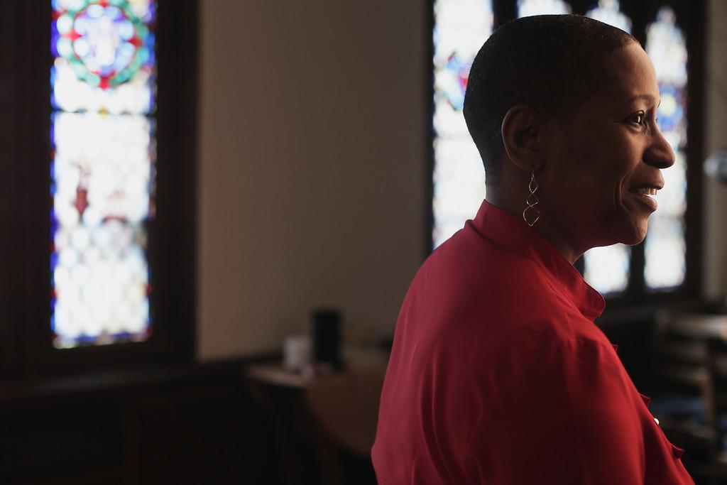 Dr. Pamela Lightsey, Associate Dean at Boston University's School of Theology. Photo by Katy Meyer.