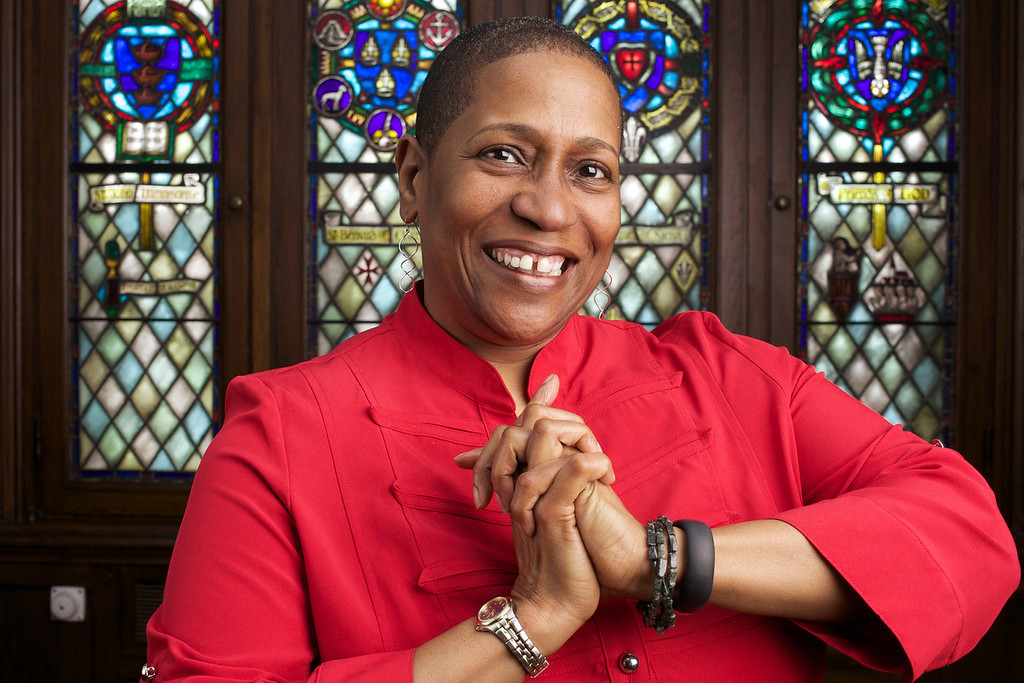 March 19, 2014. Dr. Pamela Lightsey, Associate Dean for Community Life and Lifelong Learning at Boston University School of Theology. Photo by Dominique Riofrio.