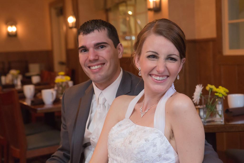 Ellen and Matt McKinnon pose after their wedding.