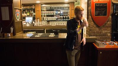 Alex Wilking at the BU pub.
