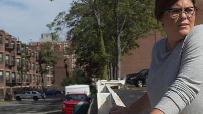 Natalie Robson at Boston University parking lot, 2015.