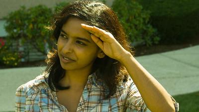 Karishma looks at horizon