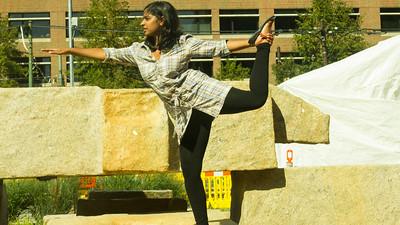Karishma's yoga pose