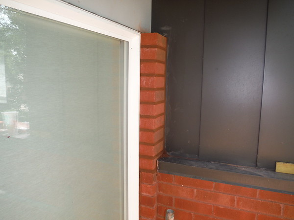 Brick modifications to existing house