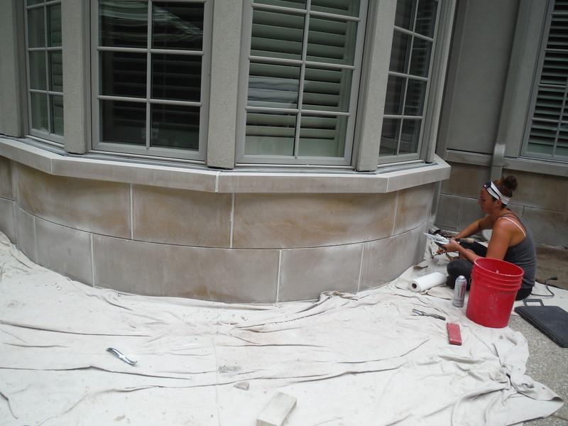 Limestone mortar replacement