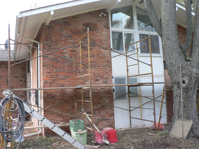BRICK HAVE ALL BEEN REPLACED ON THIS SECTION OF THE HOUSE.