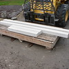 LIMESTONE SILLS HAVE BEEN CUT TO SIZE AND ARE READY FOR INSTALLATION.