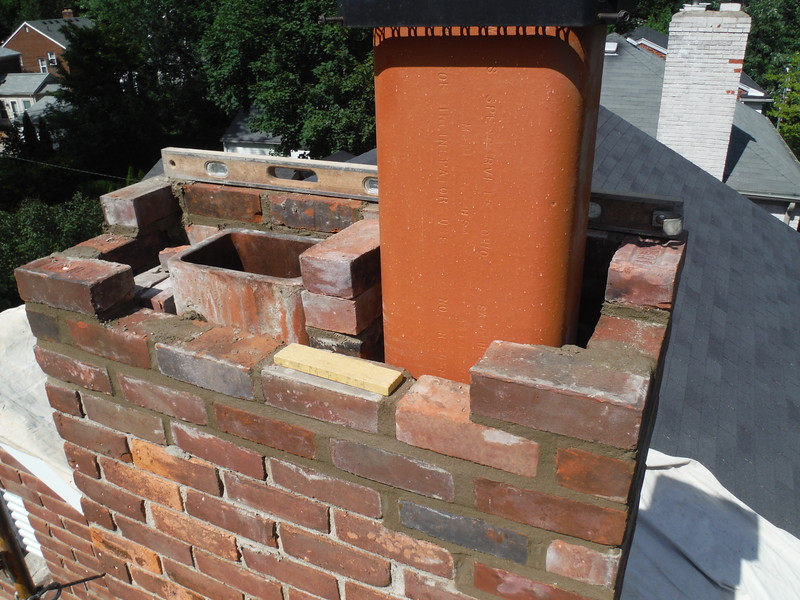 Flue liners are replaced with new