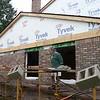 BRICK WORK IN PROGRESS SHOWING FLASHING OVER WINDOWS