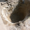 HOLE IS DUG OUT TO PROPER DEPTH AND SIZE.