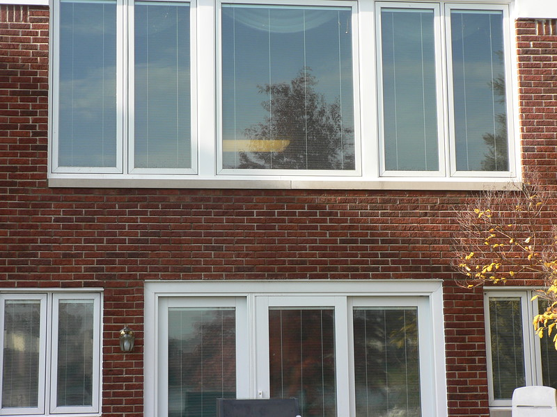 ALL BRICK REPAIR AREAS HAVE BEEN WASHED AND NEW SILLS ARE COMPLETE.