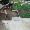 Concrete walk removed and a bluestone walk to drive installed.