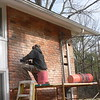 CUTTING AND REMOVAL OF OLD BRICK CONTINUES.