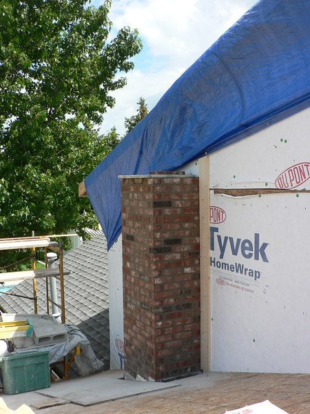 NEW CHIMNEY COMING THROUGH ROOF