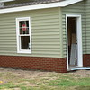 BRICK ON SMALL ADDITION MUD ROOM