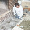 LAYING BRICK FOR HEARTH