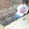 INSTALL T IRONS FOR HEARTH