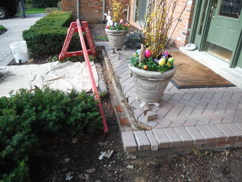 Paving brick repair