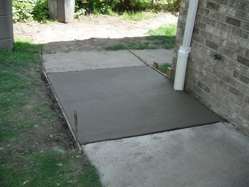 New drain and sidewalk