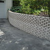 Brick retaining wall replacement