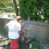 Brick fence repair
