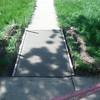 Concrete walk
