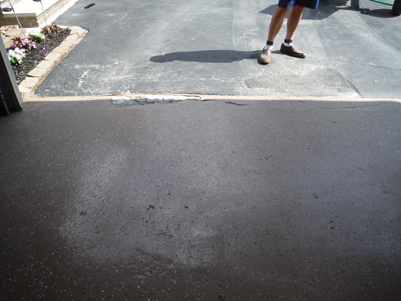 Partial garage floor replacement