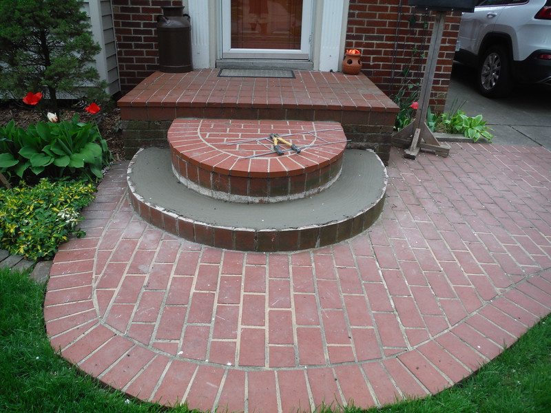 Paving brick step replacement