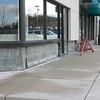 BLOCK BELOW GRADE REPLACED. PREPARATION   FOR NEW BLOCK WORK SHOWING NEW FLASHING