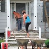 Demolition of old porch and steps.