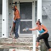 """Old concrete is 8"""" thick reinforced with bar. The only way to break out concrete like this is with a jackhammer."""