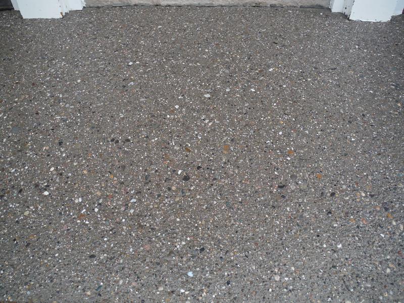 Exposed aggregate porch
