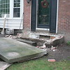 DEMOLITION ON FRONT PORCH WITH ROOM BELOW