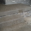 Exposed aggregate porch, step and walk