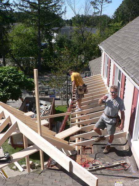 FRAMING OF NEW SHED ROOF