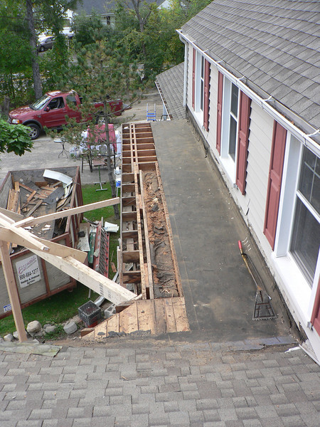 COMPLETING TEAR OFF OF OLD FLAT ROOF