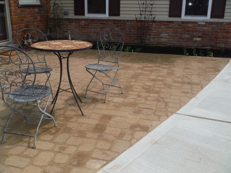 Paver patio repair