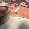 "PAVING BRICK ARE SET IN ABOUT A 1/2"" BED OF TYPE S MORTAR."