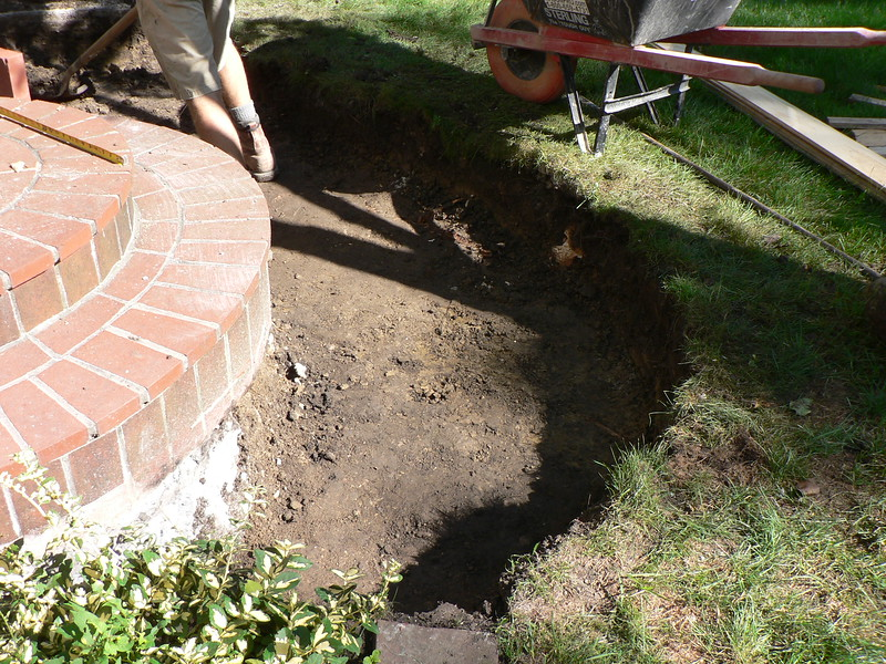 DIRT HAS BEEN REMOVED TO CORRECT DEPTH.