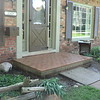 """1.25"""" pavers were installed on the front and back porches at this home."""