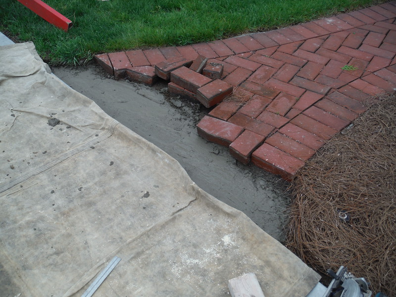 Brick walk repair