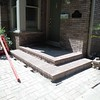 Treads are set and will need 24 hours to cure before top section of porch is finished.