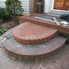 Paving brick step