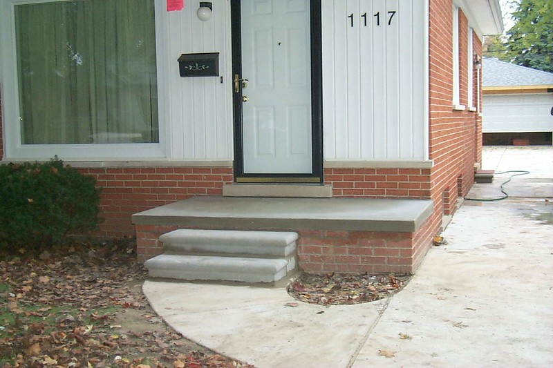 NEW PORCH AND STEPS