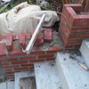 Brick wing wall and step replacement