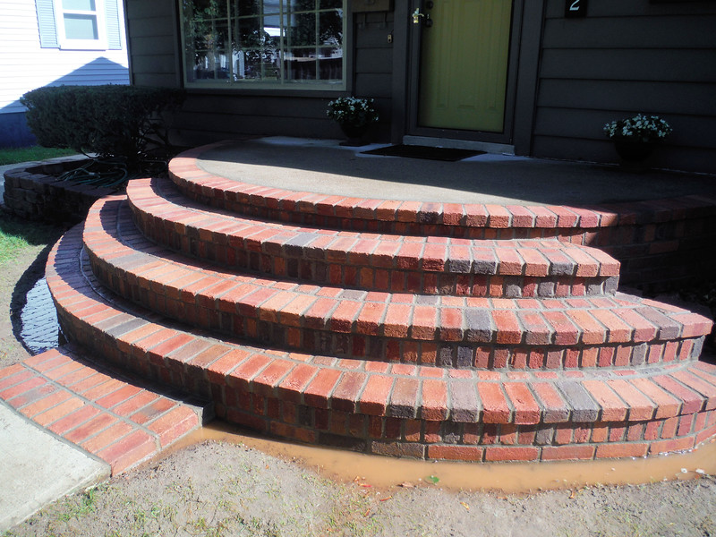 Brick step replacement