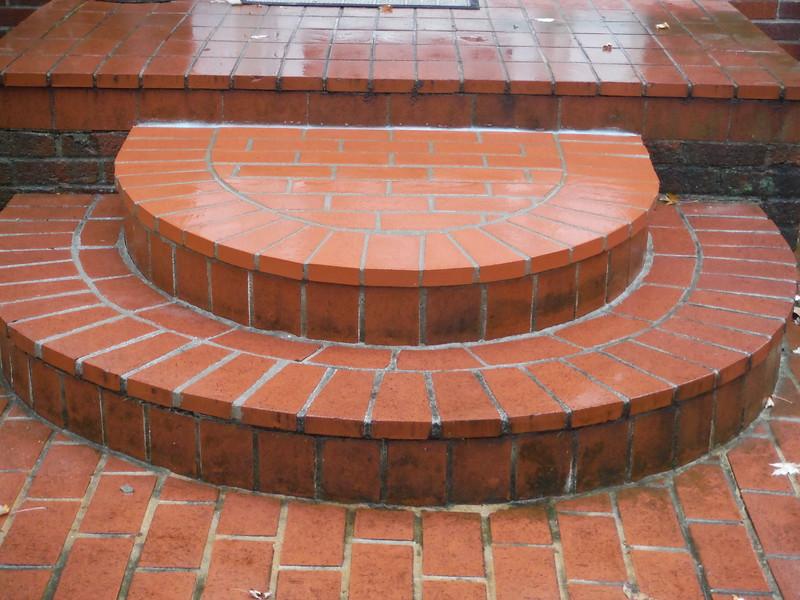 Paving brick step